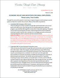 Special Report: COVID-19 Economic Relief & Incentives for Small Employers